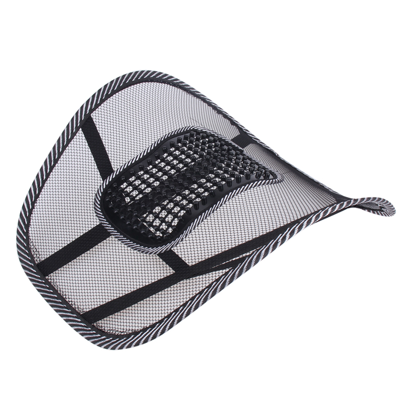 Universal Car Seat Chair Back Massage Lumbar Support Waist Kudde Mesh - Bil interiör tillbehör - Foto 3