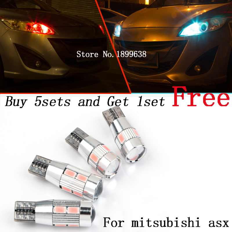 2pcs safe No error T10 light 194 W5W high brightness LED Canbus For mitsubishi asx lancer 10 pajero outlander 2013 for mitsubishi outlander lancer 10 9 asx pajero sport l200 colt carisma app control car interior led atmosphere decoration light