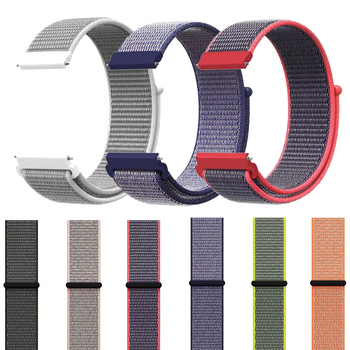 20mm 22mm Nylon Loop Band for Samsung Galaxy 46mm 42mm S3 S2 Classic Gear Sport Strap for Huami amazfit bip Huawei Watch 2 GT 22mm 20mm nylon strap for samsung galaxy watch 46mm 42mm active 2 gear s3 classic band for huami amazfit bip huawei gt 2 bands