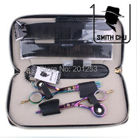 5.5 Inch Hairdressing Hair Cutting Scissors Thinning Shears Professional Salon Barbers Hair Tijeras Kits Hair Clippers LZS0048