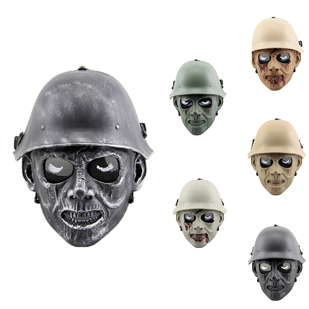 Image 2 - Outdoor Hunting Cs Wargame Mask Halloween mask Ghost Full Face Skull Bone Airsoft Paintball Mask-in Paintball Accessories from Sports & Entertainment