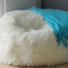 4a91be016c LARGE LUSH SOFT SHAGGY ALPACA CLOUD BEAN BAG CHAIR FUR SAC