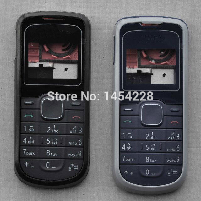 BINYEAE New Full <font><b>Housing</b></font> Case Cover Facing Front Frame With Key Board Display Glass+Middle Frame+Back Cover For <font><b>Nokia</b></font> <font><b>1202</b></font> image
