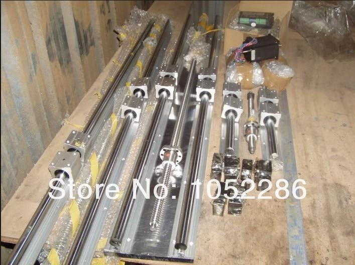 6set SBR16-300/600/800mm linear rail+3set ballscrew RM1605+3set BK/BF12+3 coupler CNC set кухонная мойка ukinox stm 800 600 20 6