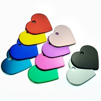 100 pcs Blank Tags Id Tag For Dogs Customized Cat Puppy Pet ID Name Collar Heart Shape Identification Phone Telephone Anti lost