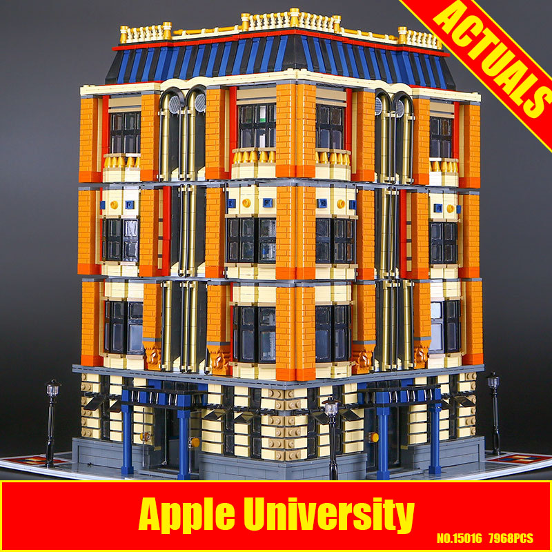New 7968Pcs Lepin 15016 Genuine MOC Creative Series The Apple University Set Building Blocks Bricks Educational DIY Childs Toys