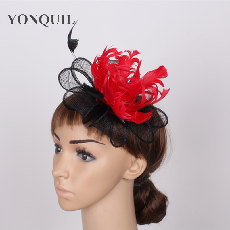 Элегантные шляпки из соломки синамей с вуалеткой хорошее Свадебные шляпы высокого качества Клубная кепка очень хорошее шляп шапки SYF16