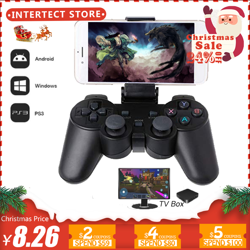 2,4g controlador inalámbrico para PS3 teléfono Android TV Box PC Joystick para Xiaomi OTG teléfonos inteligentes juego remoto joypad
