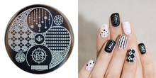 2016 New Stamping Plate hehe17 Black Butler A Nail Art Image Stamp Plates Manicure Template 1PC Hehe01-74 Free Shipping
