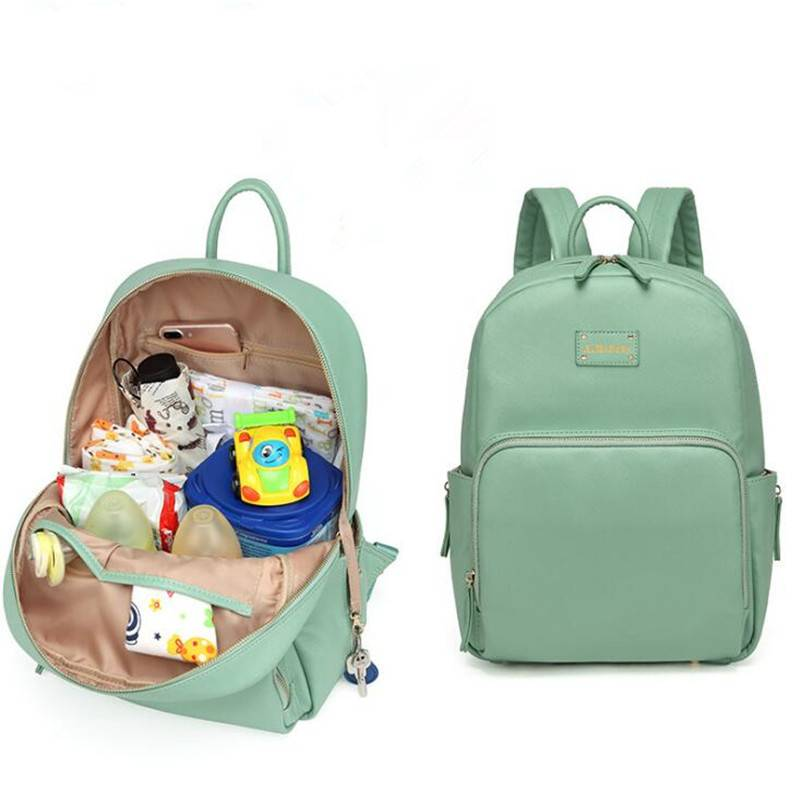 Diaper Bag Backpack PU Leather Baby Bag Organizer large Nappy Bags Mother Maternity Bags Mom Backpack Baby Backpack