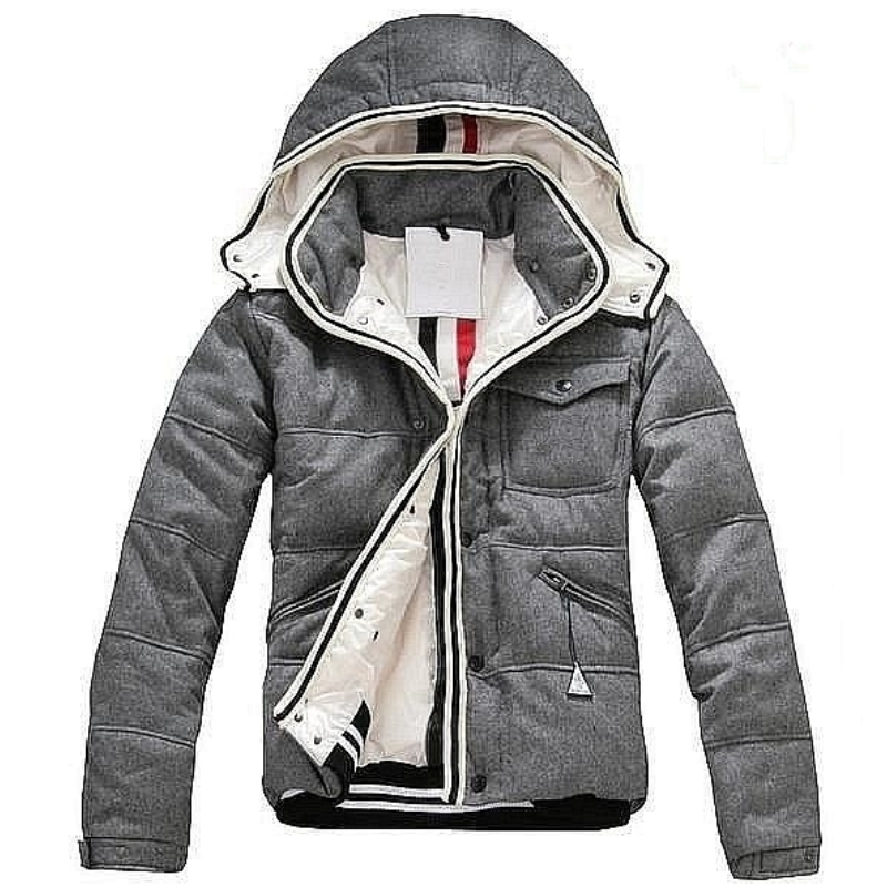 Winter Down Coats Mens Brand Design Fashion Boys White Duck Down Jackets with Hooded Zipper Warm Coats Winter Outwear Grey Sale