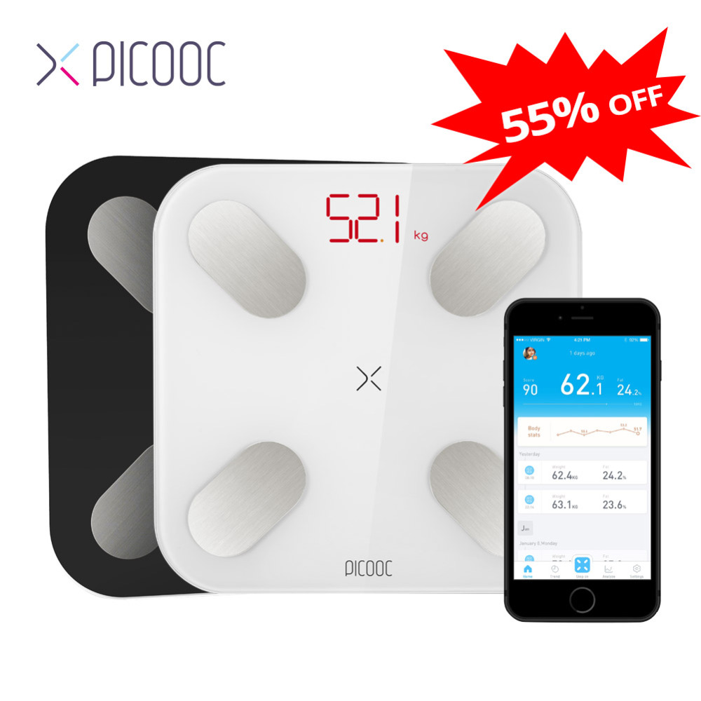 PICOOC Mi Ni Floor Scales Digital Body Weight Scales Measuring 13 Data Such As BMI Smart Weighing Scales With APP 150KG(China)