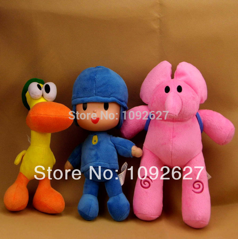 4pcs/lot 14-30cm POCOYO Cartoon Stuffed Animals & Plush Toys Hobbies Loula & Elly & Pato & POCOYO plush toy