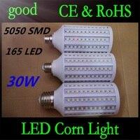 E27 B22 E40 30W 5050 SMD 165 LED Chip Corn Light AC110V/220V Warm/White Bulb Maize Lamp Home Indoor Outdoor street lighting 5pcs