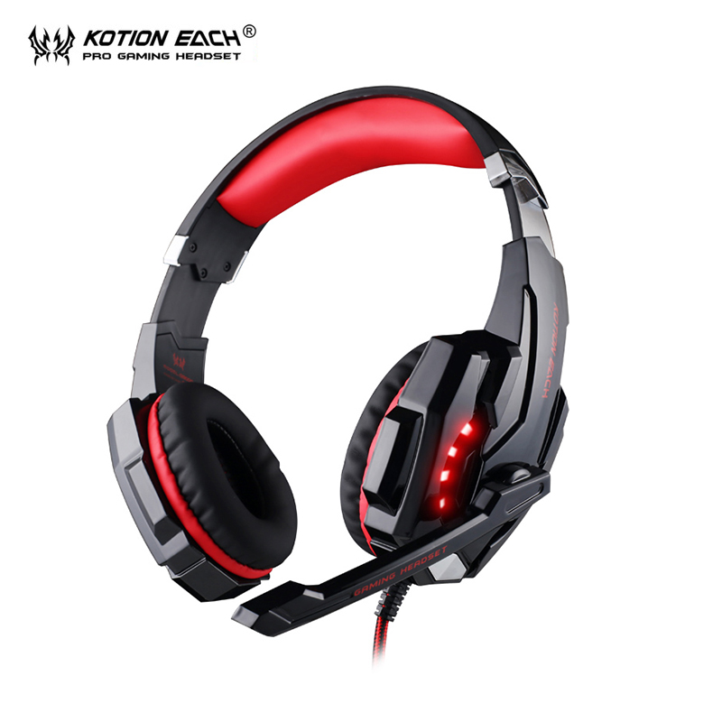 KOTION EACH G9000 headphones PC Gamer Gaming Headset Headphone With Microphone LED for computer pc headphone kotion each g9000 pc gamer headphones gaming headset gamer auriculares fones de ouvido with microphone led noise canceling