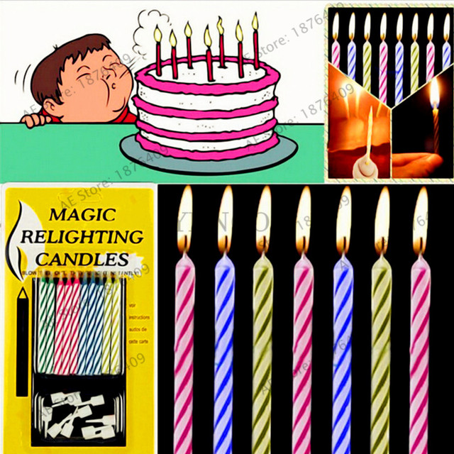 Creative Birthday Candle That Wont Blow Out Funny Tricky Smokeless Environmental Protection Thread