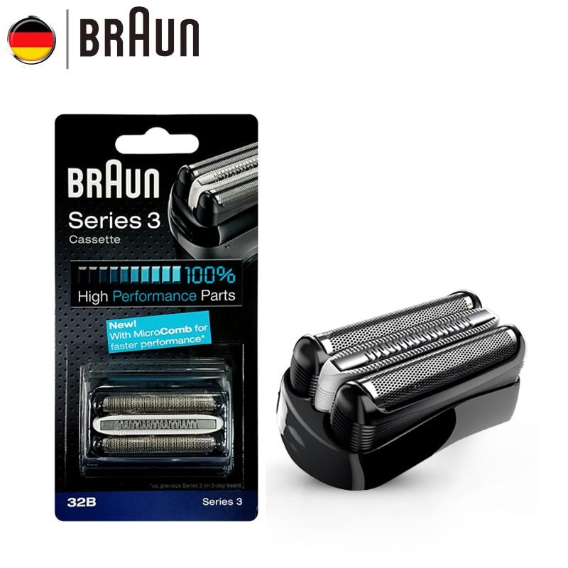 Braun Electric Razor Blade 21B 32B 32S BT32 Refills Foil for Series 3 Electric Shaver 300s 301s 310s 3000s 3020s 3050cc Cruzer6
