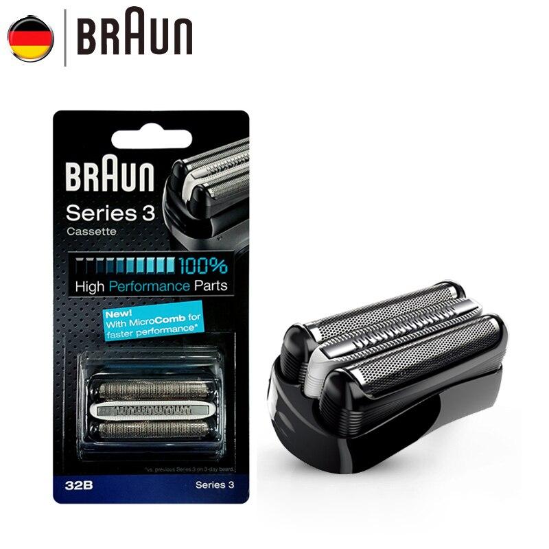 Braun lame de rasoir électrique 21B 32B 32S BT32 recharges feuille pour série 3 rasoir électrique 300s 301s 310s 3000s 3020s 3050cc Cruzer6-in Rasoirs électriques from Appareils ménagers    3