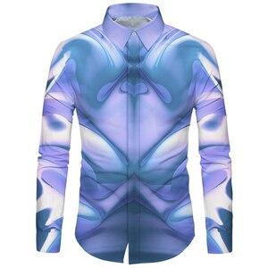 Image 4 - Cloudstyle 3d floral impresso homem camisa casual xadrez camisas hombre vestido camisas de casamento homme camisa manga longa magro ajuste camisas