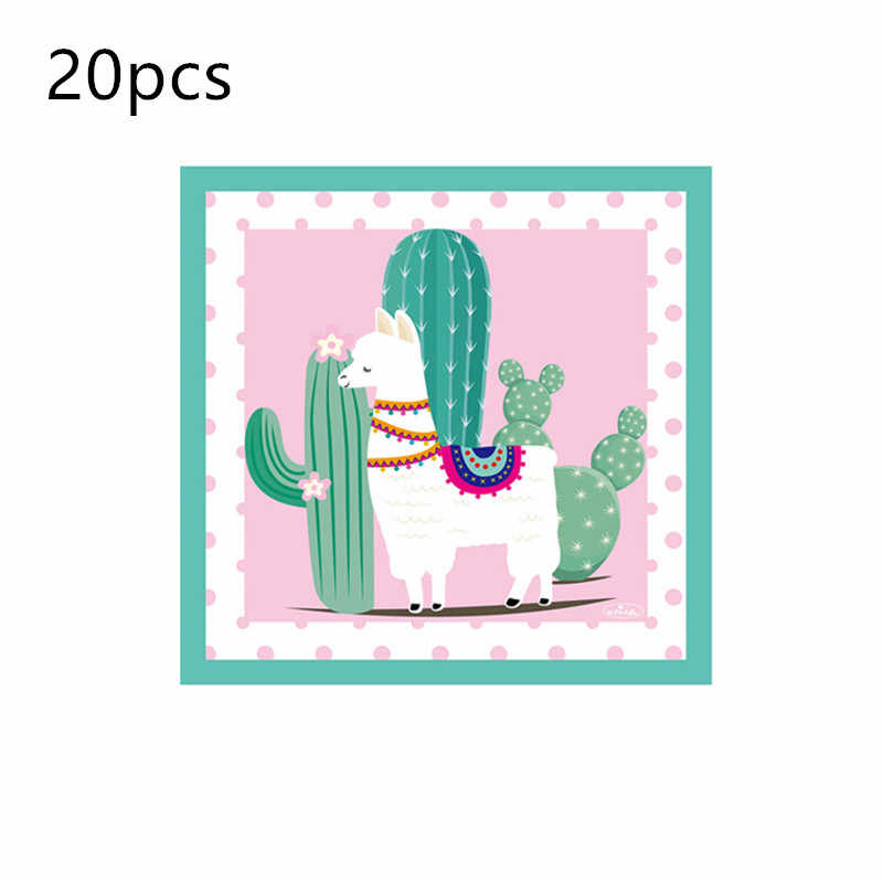 1 セットアルパカバナーセットアルパカテーマイベントパーティー用品装飾装飾ハッピー誕生日の好意ギフト
