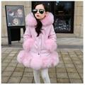 Girls fake fur coat girls Faux Fox Mink Fur Coat Girls Warm Luxury Medium Long Fake Fur Coats Kids Coats Coat Warmer jacket