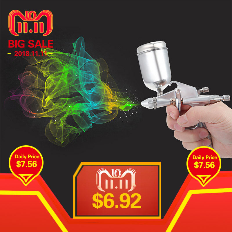 Spray Gun K-3 Mini Professional 0.5MM HVLP Gravity Feed Air Spray Gun Air Paint Spray Guns Airbrush For Painting Car Aerogra 22 piece spray gun cleaning kit with case complete set to clean hvlp paint guns air tools gravity