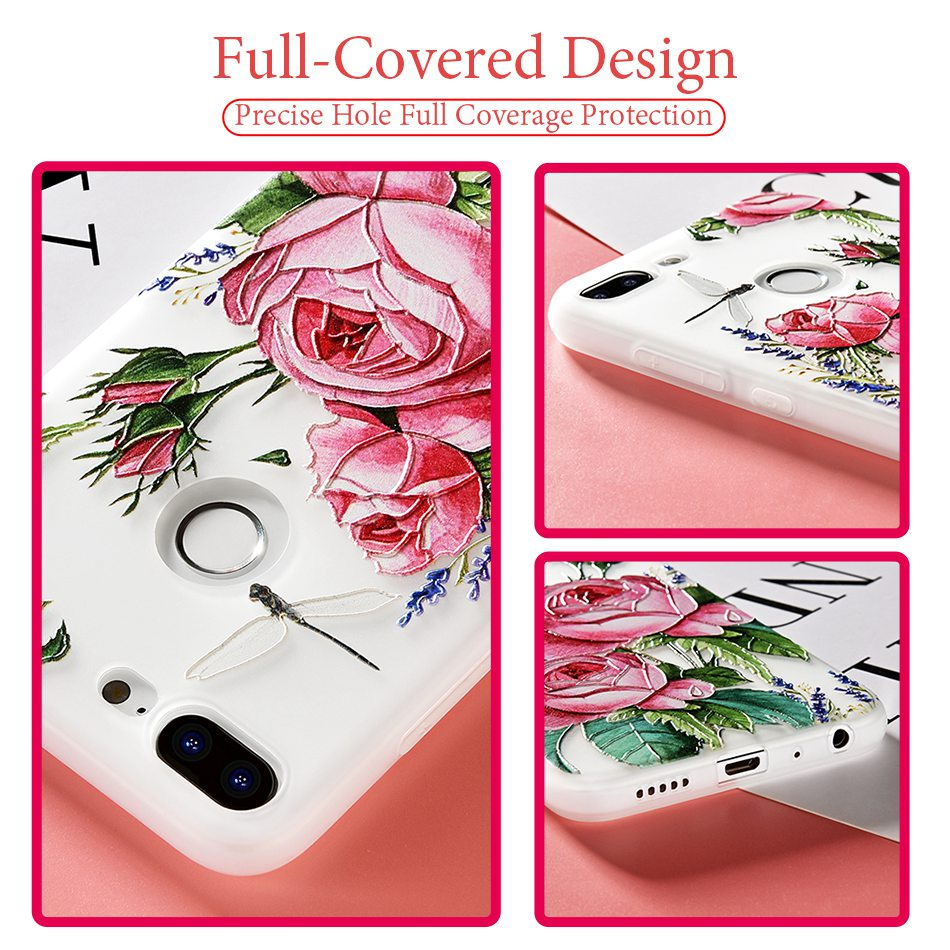 3D Relief Flower TPU Case For On Honor 9 9 lite Soft Silicone Case Back Cover Case for Huawei P20 P10 lite NOVA 2 Case           (32)