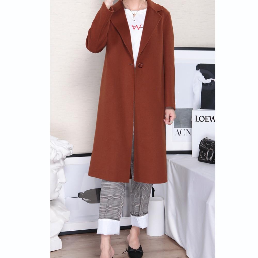 Automne Style De Manteau Veste Femmes kaki Mode Long Loisirs Laine 37002 hiver Dame Solide Marron Maylooks Nouveau 158wvnwq