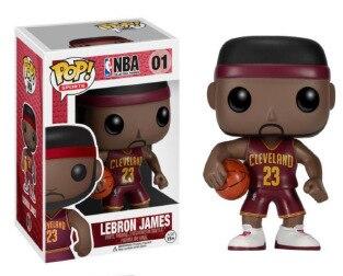 Funko pop Oficial LeBron James NBA Basketball Super Star Jogador Vinil  Figura Bobble Cabeça James VERSÃO 2084049287e