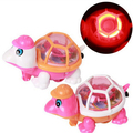 50PCS New Lovely Infant Baby Educational Pull Emitting Little Turtle Light Kid Toy