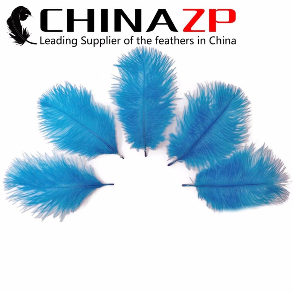CHINAZP Usine 15-20 cm (6-8 pouce) 200 pcs lot Belle Teints Turquoise Bleu Autruche  Plumes plumes pour Vente b2d3da31e46