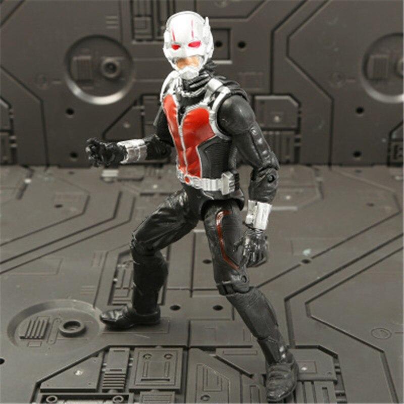 Marvel Мстители 3 Бесконечность войны фильм Аниме Супер Герои Капитан Америка, железный человек, Халк Тор супергерой Фигурки игрушки - Цвет: Ant-Man