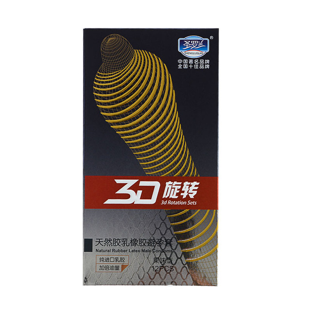 24Pcs/Lot 3D RotatingThread Stimulating Condoms Natural Latex Ultra thin Condom Sex Toy for Men Contraceptive Sex Products