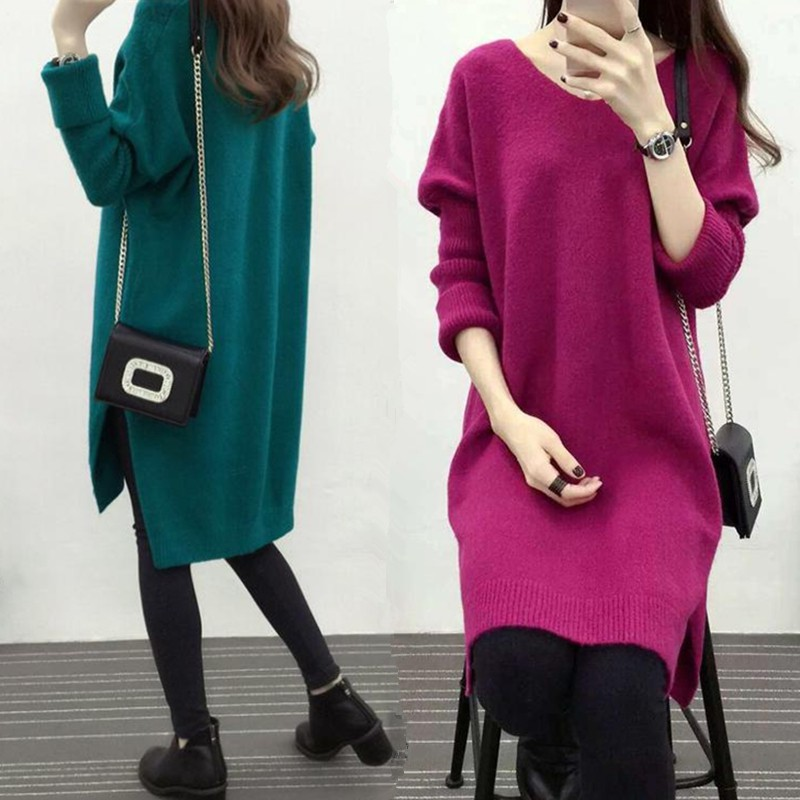Maternity Fall/Winter Maternity Dress Long Sleeve Knit Top Bottoming Shirt Pregnant Women's Sweater