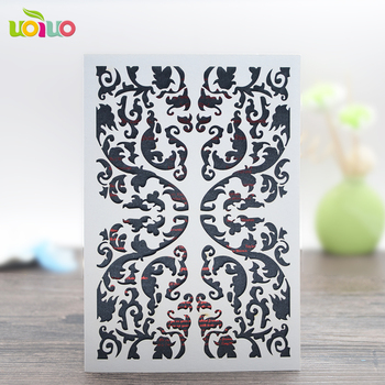 Luxurious arabic wedding invitation cards 3d cards greeting cards for wedding decoration