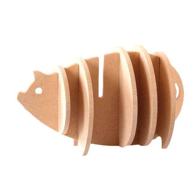 Itemship Lovely Pig Hedgehog Sheep Cup Coasters Creative DIY Wood MDF  Insulation Coffee Pads Home Kitchen