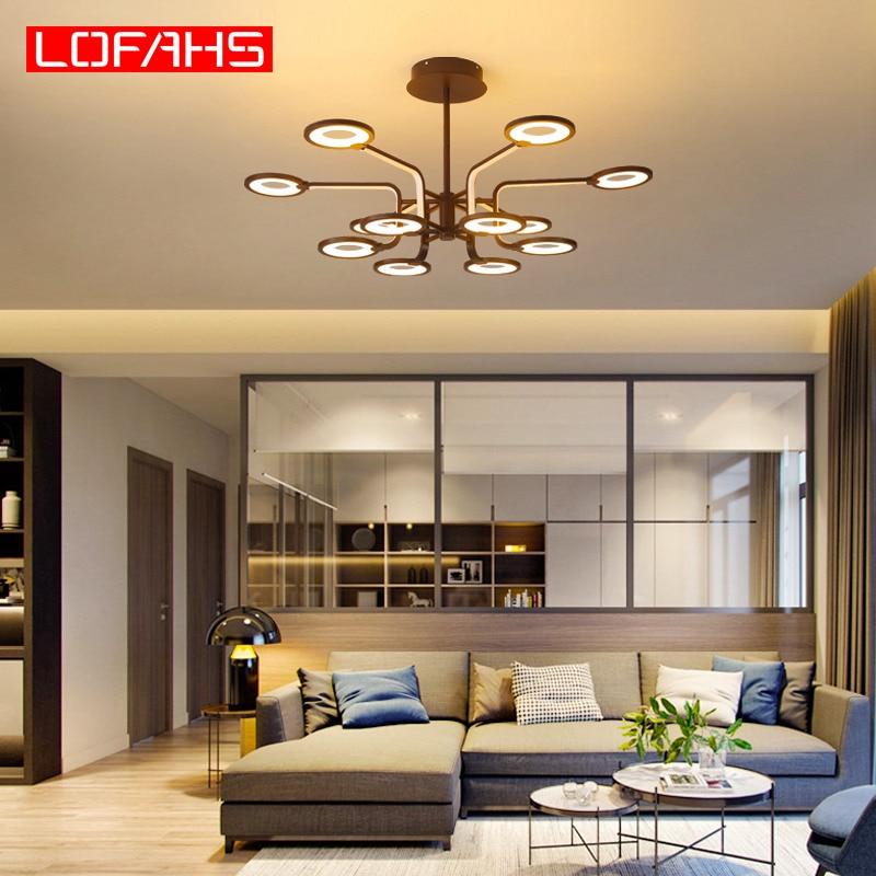 LOFAHS Modern led chandelier lamp Remote Traditional chandelier lighting fixture for dining living room bedroom kitchen salon|Chandeliers| |  - title=