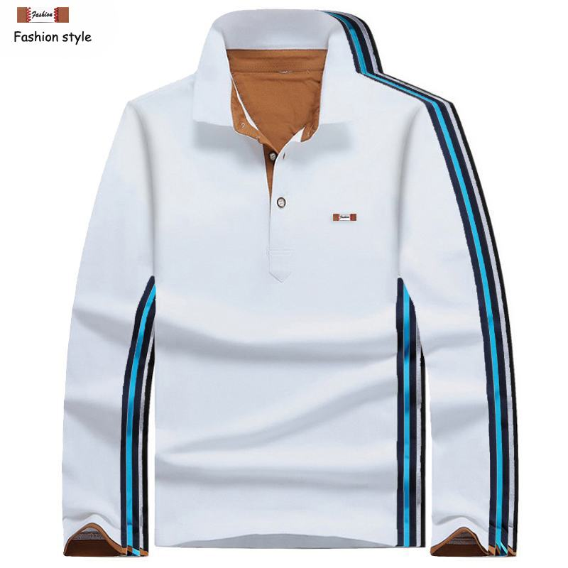 Hot sale 2019 New Mens long sleeve solid color   polos   shirts casual brand cotton mens lapel   polos   shirts fashion mens slim tops