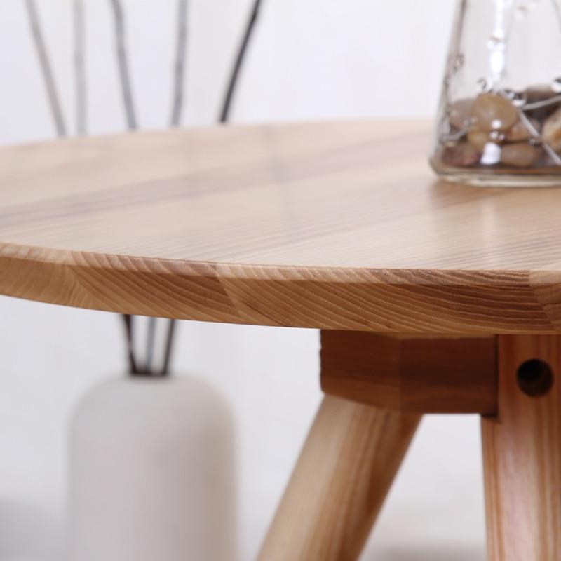 Japanese Style Wood Small Round Table Side A Few Corner Simple Stool White  Oak Teasideend