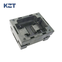 BGA64 OPEN TOP Burn in socket pitch 0.8mm IC size 8*11mm BGA64(8*11)-0.8-TP01/50N BGA64 VFBGA64 burn in programmer socket