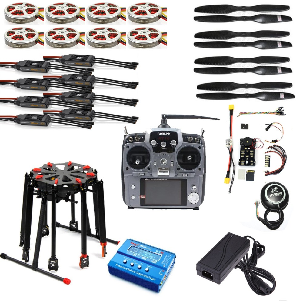 Pro 2.4G 10CH RC 8 essieux Octocopter Drone Tarot X8 pliant PIX PX4 M8N GPS ARF/PNF bricolage Kit de démontage moteur ESC