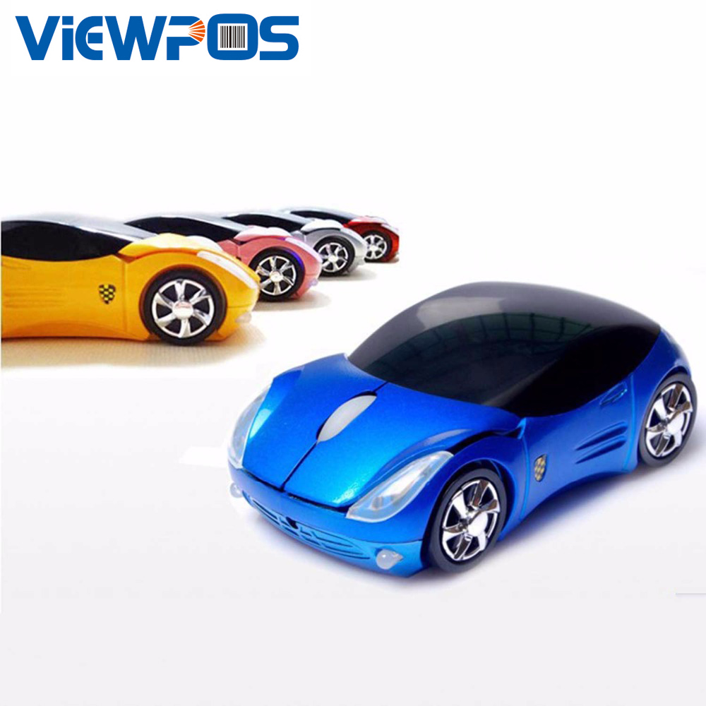 2.4G Wireless Mouses Car Gaming Mice Cartoon Sports Car Optical Mouse 1600DPI USB