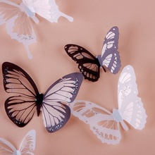 2018 New Design Papillon 18PCS PVC really 3D Butterfly TV Wall Decal Home Study Window Stickers Modern Home Decor stickers