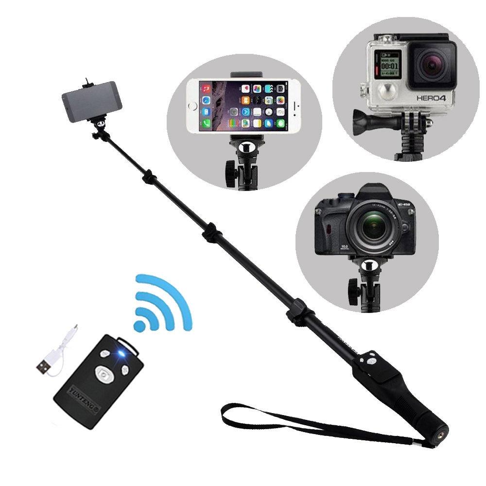 1288 Selfie Stick Bluetooth Extendable Handheld Monopod Tripod Mount for Sony Xperia C3 C4 C5 Z5/Z5 Preminum XZ/XZ Preminum штатив monopod lr 1288 plus red 48735