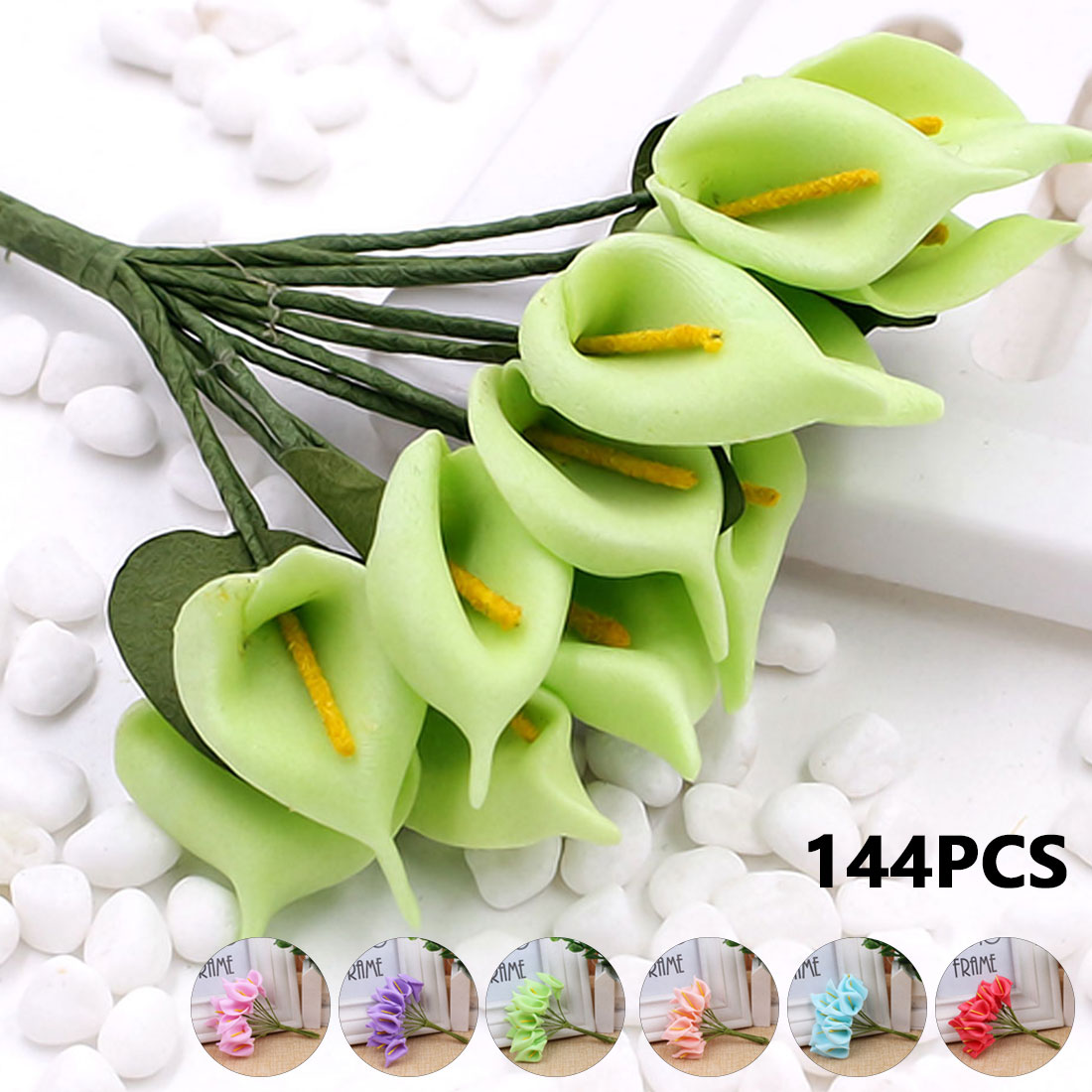 Useful calla lily flowers 144 pcs simulation artificial pe foam useful calla lily flowers 144 pcs simulation artificial pe foam flores wedding decoration diy boxes collage craft supplies in artificial dried flowers izmirmasajfo