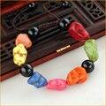 Venta caliente Nueva Moda Joyas de estilo Chino Hecho A Mano Multicolor Piedra Natural Agate Beads Pulseras para Mujeres Regalos Del Partido