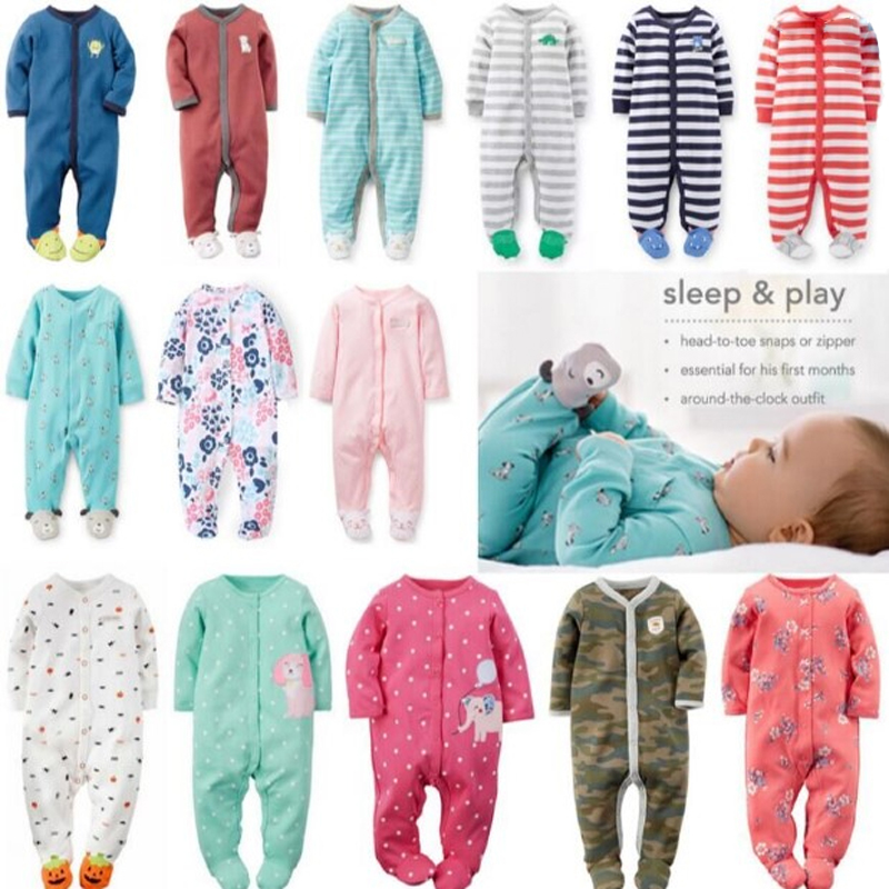 Boy, girl, baby, cotton, cloth, bag, jumpsuit,   romper  , child, warm pajamas Cotton onesies, boys and girls onesies pajamas