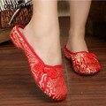2017 Classical Китайском Стиле Женщины Тапочки Обувь Повседневная Лето Вышитые Обувь Холст Мода Пекин Обувь Женская SNE-368