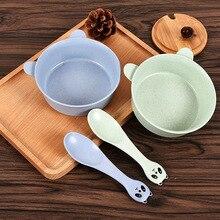 4 Colors Wheat Straw Dinnerware Set