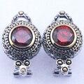 Новый Гранат Кристалл Женщина Стерлингового Серебра 925 Серьги Кристалл TE322
